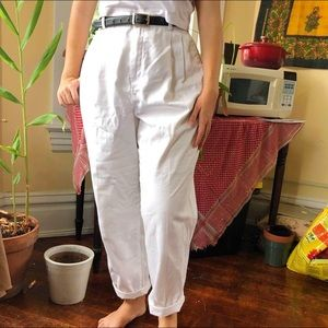 Baggy white trousers from Talbots